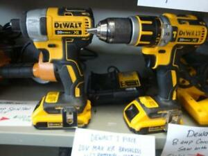 Dewalt 20V MAX XR Lithium-Ion Cordless Hammer Drill and Driver Combo Kit with 2 Batteries