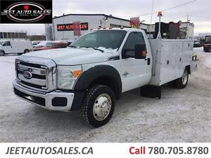 2011 Ford Super Duty F-550 11FT SERVICE BODY VMAC DIESEL DUALLY