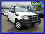 2008 Toyota Hilux KUN26R 07 Upgrade SR (4x4) Glacier White 4 Speed Automatic Dual Cab Pickup Penrith Penrith Area Preview