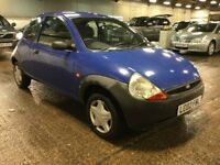 2002 FORD KA 1.3 PETROL MANUAL 3 DOOR HATCHBACK BLUE 4 SEAT MOT CHEAP INSURANCE N CORSA DELIVERY CAR