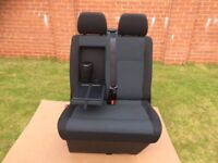 VW T6 Front double bench passenger seat in SIMORA with Seat Base and fold down arm rest