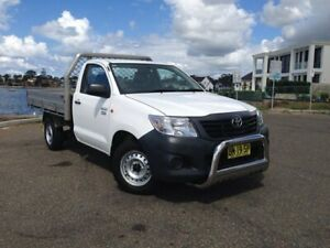 2011 Toyota Hilux TGN16R MY12 Workmate White 5 Speed Manual Cab Chassis Sylvania Sutherland Area Preview