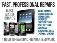 MOBILE PHONE, TABLET & LAPTOP REPAIRS...QUICK, PROFESSIONAL SERVICE. TRAINED TECHNICIANS.