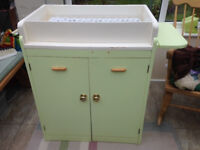 Vintage large baby changing table and cupboard unit