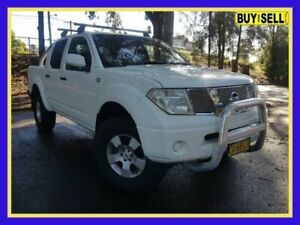 2007 Nissan Navara D40 RX White Automatic Utility Lansvale Liverpool Area Preview