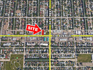 0.145 acre vacant land with direct exposure onto 118 avenue