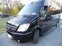 We carry the Mercedes Sprinter limousine aka The Executive Limo