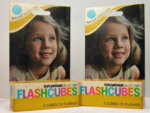 2 Boxes Of SYLVANIA BLUE DOT FLASHCUBES For Kodak Instamatic or Other Camera