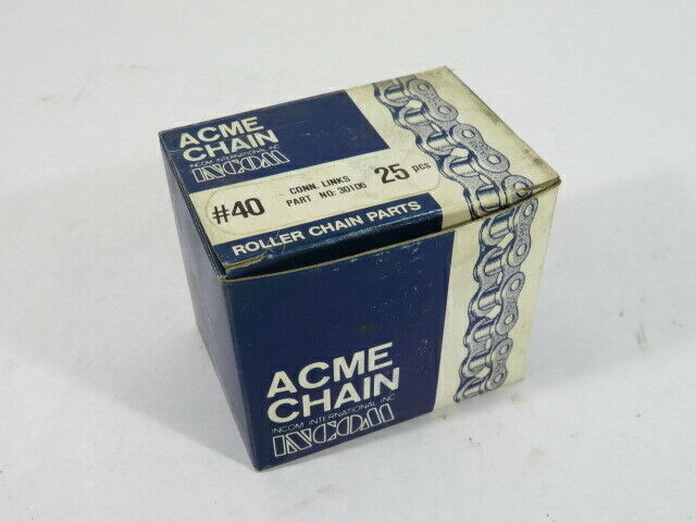 ACME Chain 30106 Connecting Link Box of 25 NEW