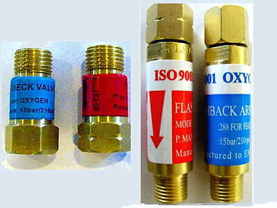 Oxygenacetylene Flashback Arrestor Check Valve Sets Torch Welding Cutting