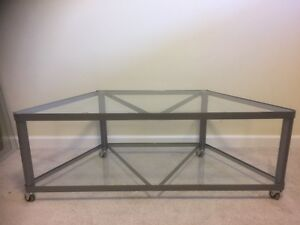 TV STAND Glass and Metal
