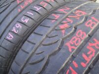 245/35/18 Dunlop SP Sport 01, BMW Runflat x2 A Pair, 5.6mm (454 Barking Rd, Plaistow, E13 8HJ) Used