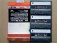 JL CHEAPEST ONLINE 3x RARE TDK D 120 D120 CASSETTE TAPES 1982-1984 W/ CARDS CASES LABELS ALL VGC