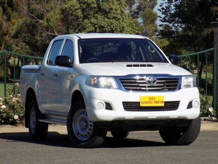 2014 Toyota Hilux KUN26R MY14 SR Double Cab White 5 Speed Automatic Utility Strathalbyn Alexandrina Area Preview