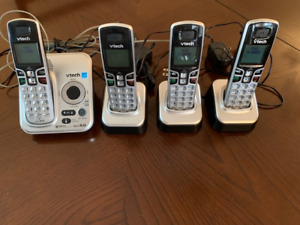 VTech Answering Machine with 4 handsets