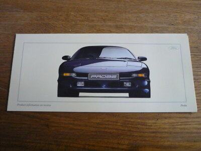 FORD  PROBE SALES SHEET OR  BROCHURE