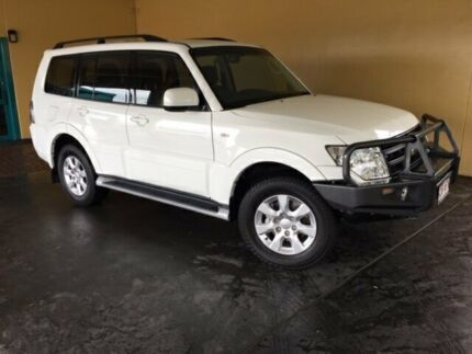 2014 Mitsubishi Pajero NW MY14 GLX-R LWB (4x4) White 5 Speed Auto Sports Mode Wagon South Toowoomba Toowoomba City Preview