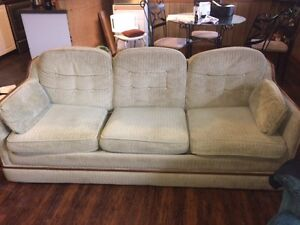 Sofa bed & two swivel reclaining chairs