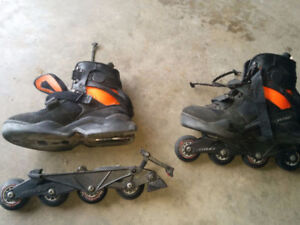 Used Roller Blades in good condition 3 pairs