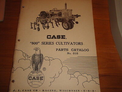 Case 800 Series Cultivator Parts Catalog