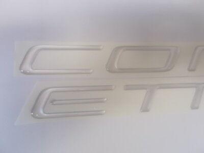 GM C5 REAR BUMPER LETTERS INSERTS FILLS COLORED CMPSTE