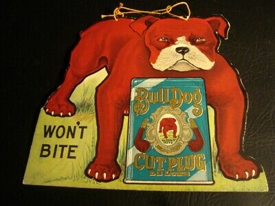 Circa 1920s Bull Dog Cut Plug Double-Sided String Hanger