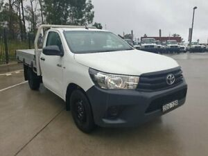 2015 Toyota Hilux GUN122R Workmate White 5 Speed Manual Cab Chassis Singleton Heights Singleton Area Preview