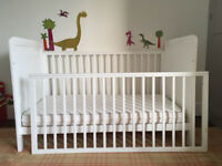 Alex Cot Bed by John Lewis with Luxury Pocket Sprung Mattress - Great Condition