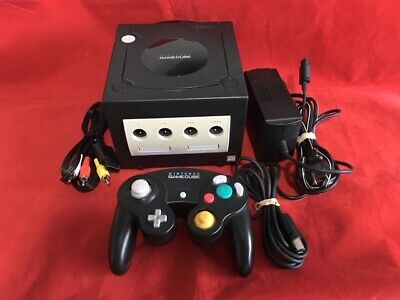 GameCube Console System Complete Black Nintendo DOL-001 Tested Works -