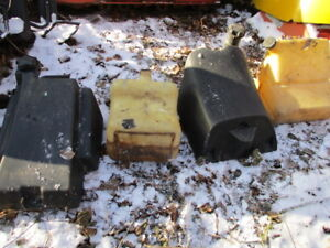Assorted Vintage Snowmobile Fuel Tanks - see photos