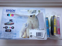 Epson printer ink cartridges (polar bear) 3 colours - cyan, magenta & yellow (XL size) - unused