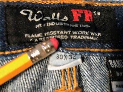 Walls Fr Flame Resistant Banox Certified By Itex Carpenter 30W X 32L Denim Zip