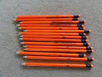 15 Bright Orange HB Drawing Pencils