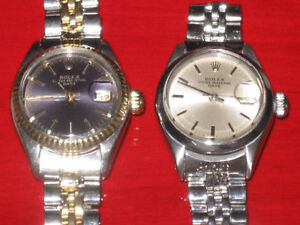 TOW LADY ROLEX'S FOR 2700$--100% AUTHENTIC--2700$ POUR LES DEUX