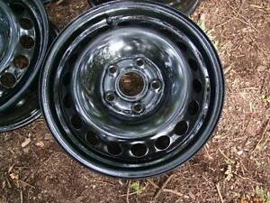 """4-15"""" 5x112MM BLACK STEEL RIMS"""
