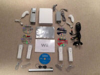 NINTENDO WII CONSOLE + MANY MANY ACCESORIES $75
