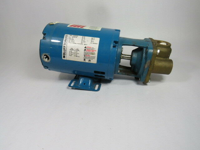 Burks 5CT7M Pump C/W Bluffton 0.5HP 3450RPM 115/208-230V 56 DP 1Ph  USED