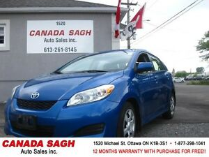 2010 TOYOTA MATRIX (XR Edition) CLEAN CAR! 12M.WRTY+SAFETY $7490