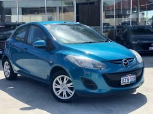 2012 Mazda 2 DE10Y2 MY12 Neo Blue 5 Speed Manual Hatchback Palmyra Melville Area Preview