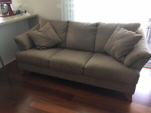 3 seater micro-fibre suede couch Brighton Bayside Area Preview