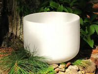 16'' Frosted Crystal Singing Bowl - G Note