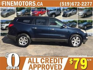 2009 CHEVROLET TRAVERSE LT * 7 PASSENGER * DVD * PANO POWER ROOF London Ontario image 3