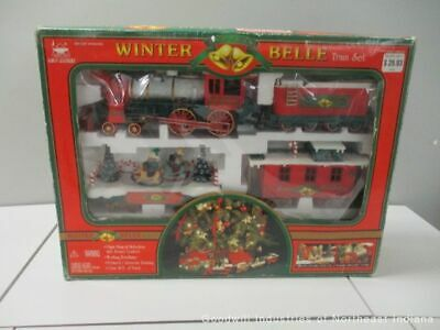 1999 'New Bright Winter Belle Train Set' Large Musical Animated Christmas (MB)