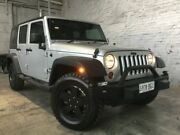 2011 Jeep Wrangler JK MY2010 Unlimited Sport Silver 6 Speed Manual Softtop Mile End South West Torrens Area Preview