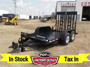 14K - 6 X 12 LOW INCLINE EQUIPMENT HAULER BY CANADA TRAILERS