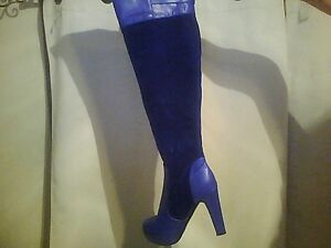 sexy blue boots good for new years