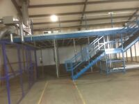 Mezzanine floor 34m X 16 and 11x 10 with 3 stairs