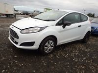 FORD FIESTA MK 9 FRONT BUMPER WHITE FACELIFT 2014 2015 2016 GENUINE USED