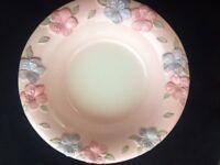 Glass & Ceramic Bowls (x2) Purples/Pinks