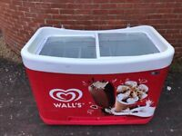 Walls Ice Cream Display Freezer with LED lights